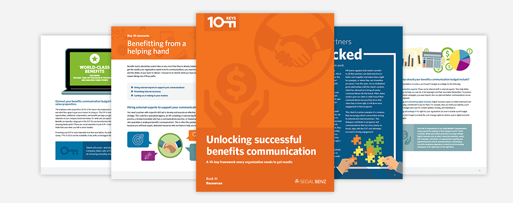 Unlocking successful benefits communication. Book III: Resources