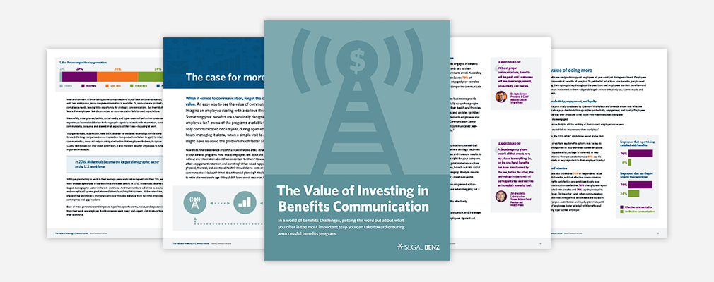 ROI on benefits communication white paper PDF