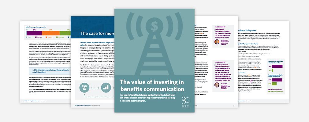 ROI on benefits communication white paper PDF