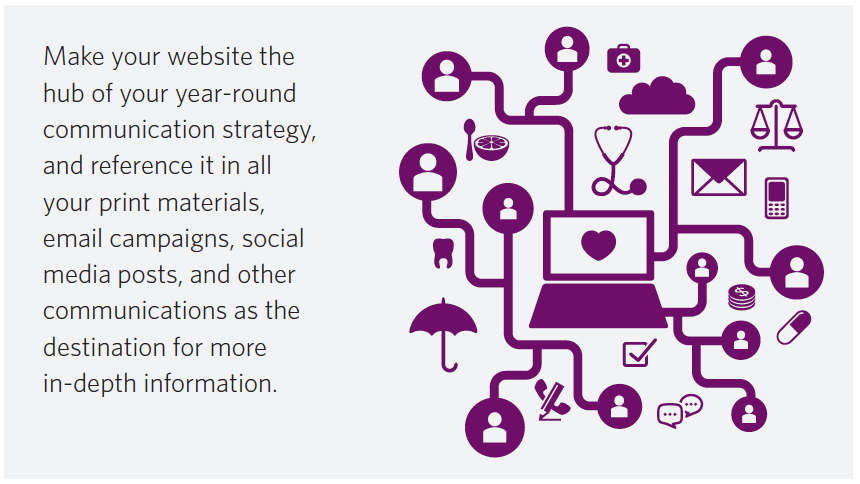 Key 3 website as hub